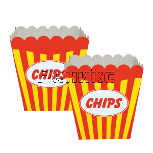 кутийка за чипс червена